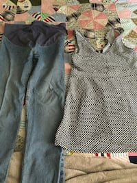 Women's blue jeans and white and black sleeveless top Hogansville, 30230