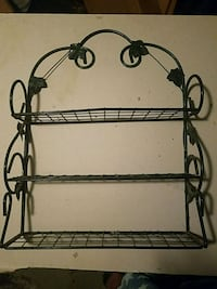 black metal 3-layer rack
