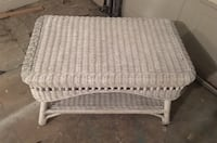 Real wicker coffee table  South Daytona, 32119