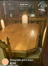 Dining set-6 chairs with hutch Brampton, L6R