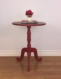 Red Accent Table Shabby Chic Richmond Hill