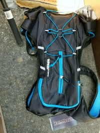 blue and black camping chair Tracy
