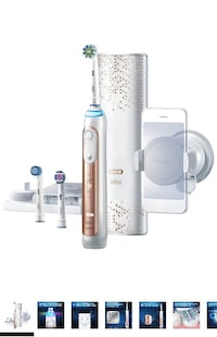 Oral-B Power Genius 8000 Rechargeable Electric Toothbrush, Rose Gold Toronto, M3K 1H5