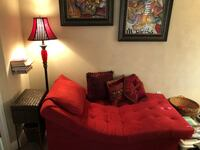 Chaise lounge couch red lamp and paintings Palm Coast, 32164