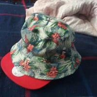 green and red floarl bucket hat Montreal