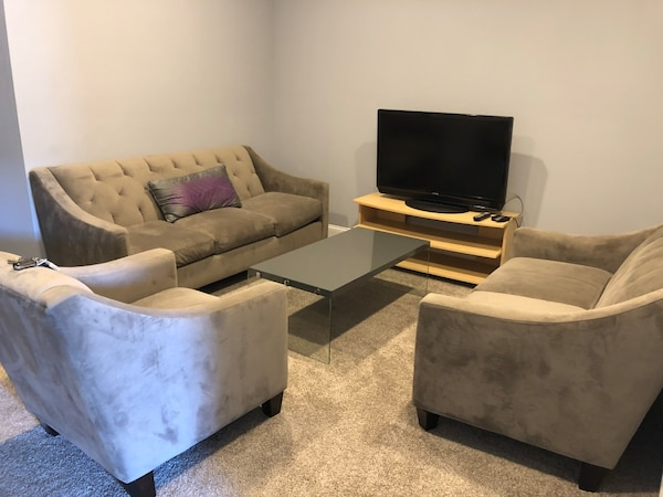Macy's Living Room Set - sofa, loveseat, and chair