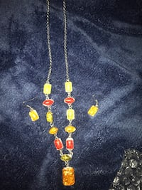 Multi color necklace and earrings  Glen Burnie, 21061
