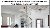 SS Stainless Steel Balcony Railing Work for Home and Office Lahore