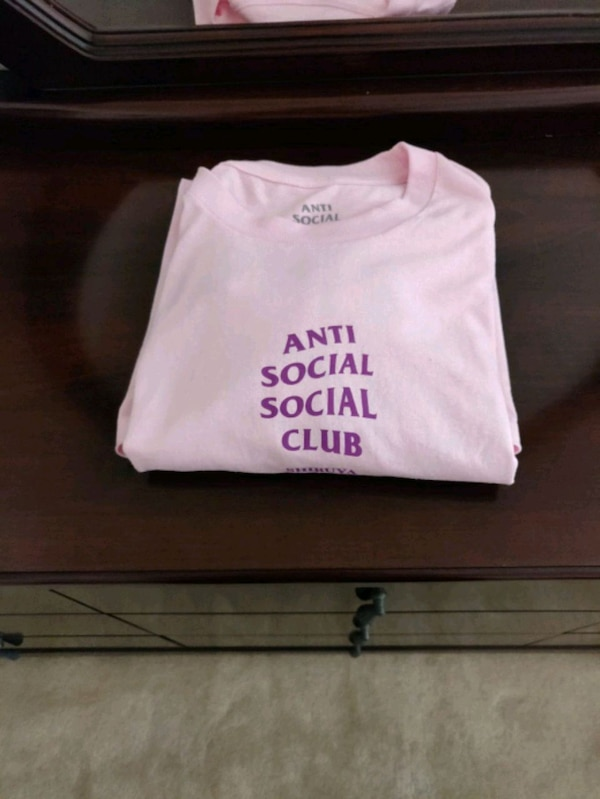 ced67c310eca Used Brand New Anti Social Social Club Shibuya Pink Tee for sale in  Milpitas - letgo