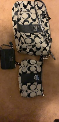 3 authentic Coach hand bags