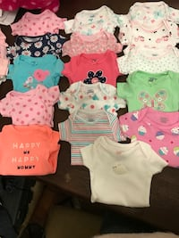 baby's assorted onesies