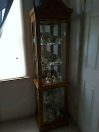 Cherished teddies collection with curio cabinet