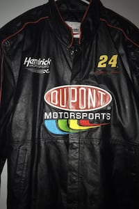 Jeff Gordan authentic nascar leather jacket/ retails at $175 / new Pearl, 39208