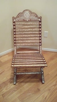 Solid Wood Chair with Beautiful Decorative Inlay MISSISSAUGA