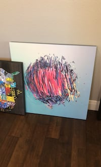 """Abstract custom wall art 30"""" square blue Vancouver, 98685"""