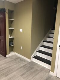Basement Finishing, windows addition, custom cabinetry, installation, quartz and granite countertops, flooring, painting, kitchen&bath remodeling, decking Aldie