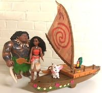 Moana & Maui action toys, Starlight canoe, Hei Hei & Pua  West Point, 10996