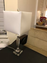 white and silver table lamp New York, 10065