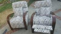 black and white floral padded armchair Los Angeles, 91342