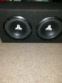 "Two JL audio 10"" subs"
