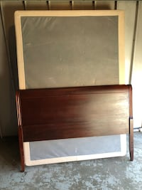 Double bed base and cherry headboard. 19 mi