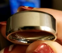 Stainless steel wedding band.... sizes 10 and 13 Jurupa Valley