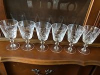 Real crystal wine glasses  Toronto, M3B 3A2