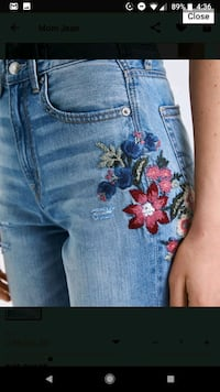 American Eagle Embroidered Mom Jean Size 0R Vancouver, V5S
