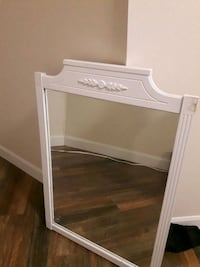 white wooden framed mirror with drawer Barrie, L4N