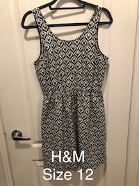 black and white sleeveless dress Bradford West Gwillimbury, L3Z 0G8