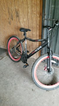 black and red hardtail bike 1492 mi