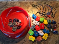 Complete Beyblade Metal Fusions with launchers and pull cords + arena  Pickering, L1V 4X8