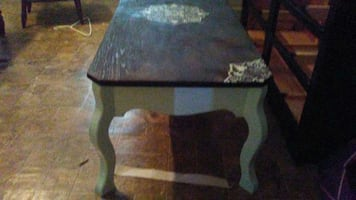 Solid wood coffee table newly redone