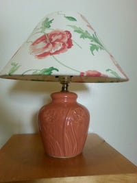 EMBOSSED Floral Ceramic & Floral Shade Table Lamp Mississauga, L5N 2X2