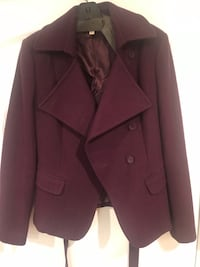Kenar 60% wool lined jacket size large plum color Norridge, 60706