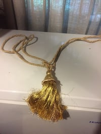 Tassel tie back rope cord for curtains. $7.00 each. Maroon and gold. Woodbridge, 22192