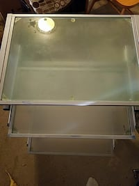 Glass desk. East Wenatchee, 98802