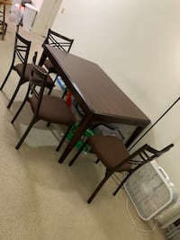 Rectangular Wooden Dining Table with Chairs set