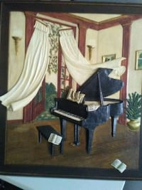 Grand Piano 3D art painting for wall Scarborough, M1K