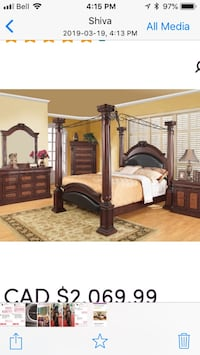 4 post canopy bed set Mississauga, L5R 1N9