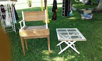 Repurposed mortar box chair and window table Auburn, 42206
