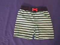green/blue/red striped shorts Evans