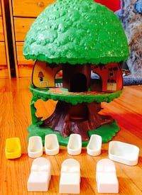 Vintage Tree Tots Treehouse with furniture Lincoln, L0R