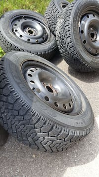 Goodyearwinter tires and rim P20560R16