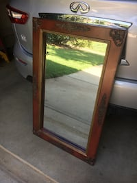 Wood framed mirror 52 inches wide by 26 inches tall Charlotte, 28270