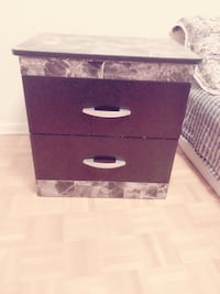 Brand new Grey and black wooden 2-drawer chest  Toronto, M2J 3C8