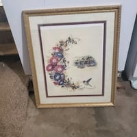 Hummingbird Framed Wall Hanging Picture Locust Grove, 30248