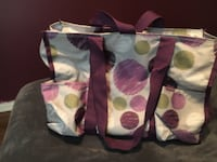 Thirty one White, purple, and green floral tote bag Calera, 74730