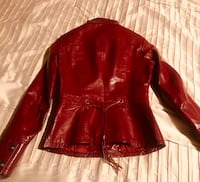 Red leather zip-up jacket Toronto, M6G
