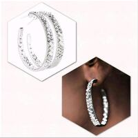 silver-colored and diamond ear rings Greenville, 27834
